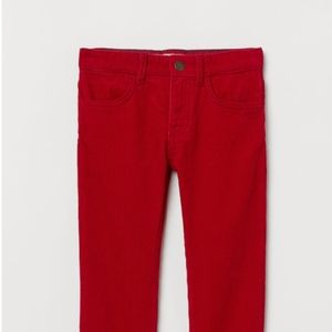 NWT H&M Red Corduroy Pants 3-4 Years